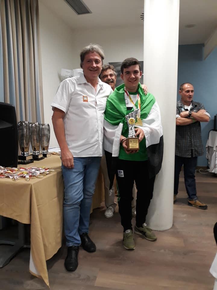 Carlos Delgado Campos Campeón de España de Salmónidos Mosca Juventud