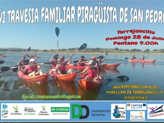 La VI Travesía Familiar Piragüista de San Pedro el domingo 28 de Julio