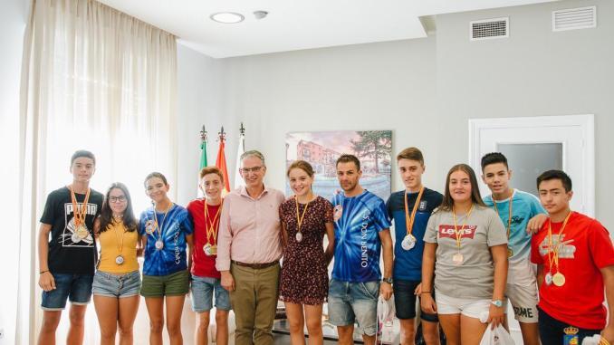 Recibimiento del Alcalde de Don Benito a los Subcampeones de España del Club Salvamento Don Benito