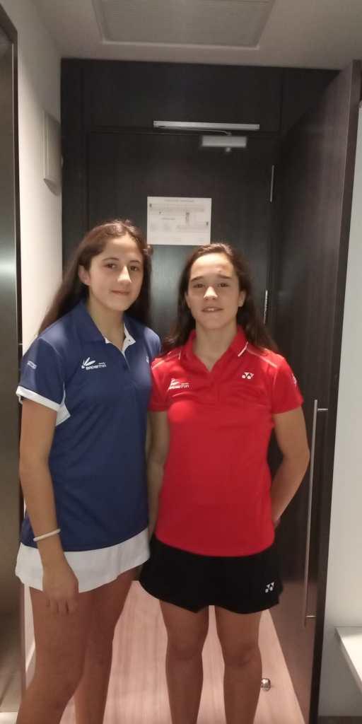 Las extremeñas Mariela Vázquez y María González al Europeo de Bádminton Sub 15