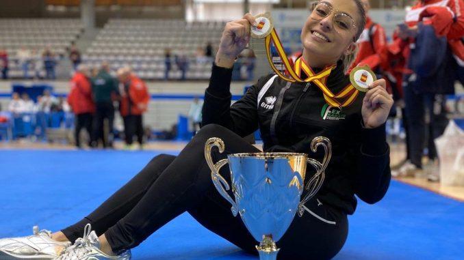 Marta García Lozano, ha recibido este domingo las dos medallas de bronce