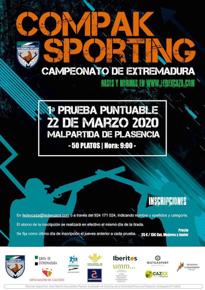 El Campeonato de Extremadura de Compak Sporting arranca el 22 de marzo en Malpartida de Plasencia