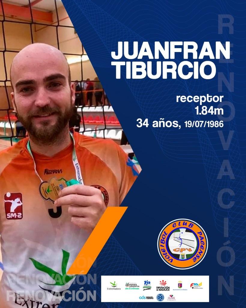 El Extremadura CPV contará con la experiencia de Juanfran Tiburcio para la próxima temporada
