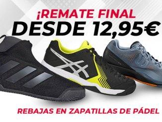 Remate final en zapatillas de pádel en PadelStar, desde 12,95€