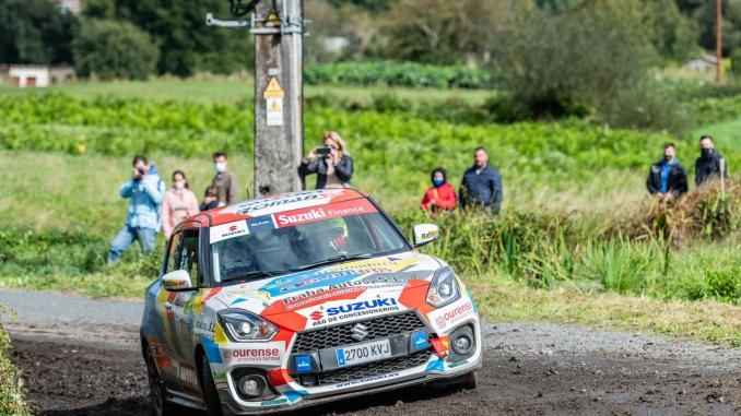 Colorado y Román en la lucha del título Junior de la Copa Suzuki Swift en el Rallye La Nucía