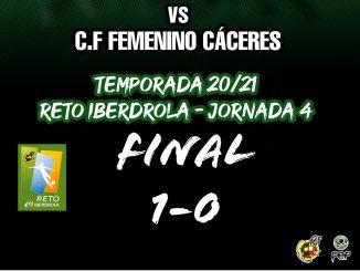 Derrota por la mínima del C.F Femenino Cáceres en Córdoba