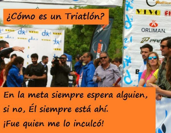 """Durante un triatlón siempre dedicas tiempo para pensar en """"ellos"""", en los que más quieres"""