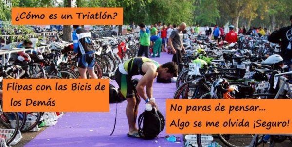 En un triatlón siempre piensas que algo se te olvida
