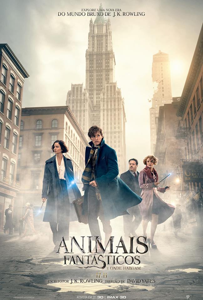 Divulgado o trailer final de Animais Fantásticos e Onde Habitam!