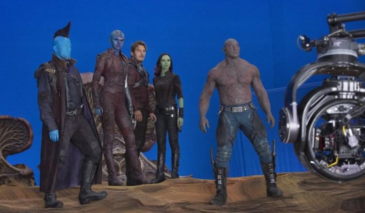 James Gunn divulga novas imagens dos bastidores de Guardioes da Galaxia Vol. 2