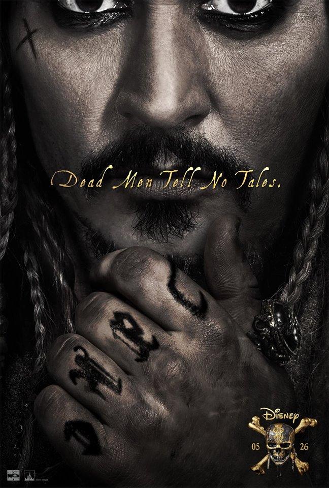 Divulgado um novo pôster de Piratas do Caribe: A Vingança de Salazar!
