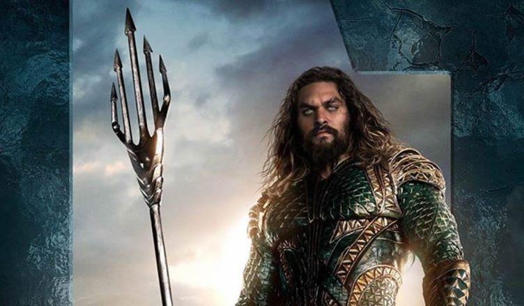 Divulgado um novo pôster do Aquaman em Liga da Justiça!