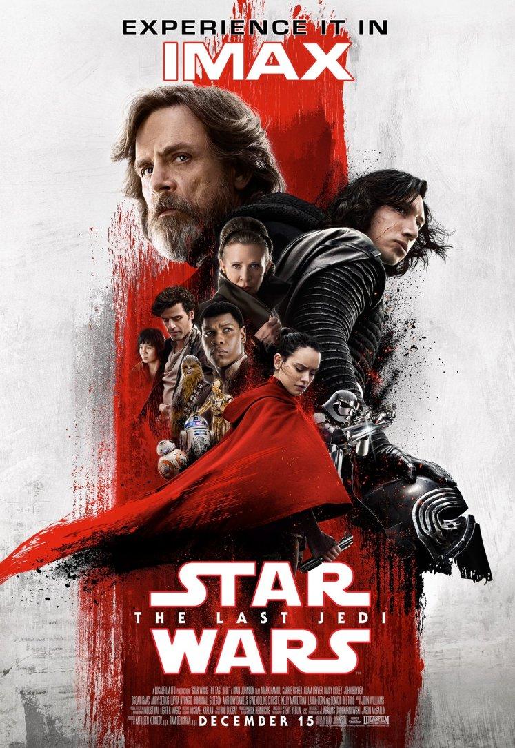 Luke e Kylo Ren são destaques em um novo pôster em IMAX de Star Wars: Os Últimos Jedi!