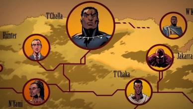 Pantera Negra ganha um vídeo que explica a árvore genealógica da família real de Wakanda!