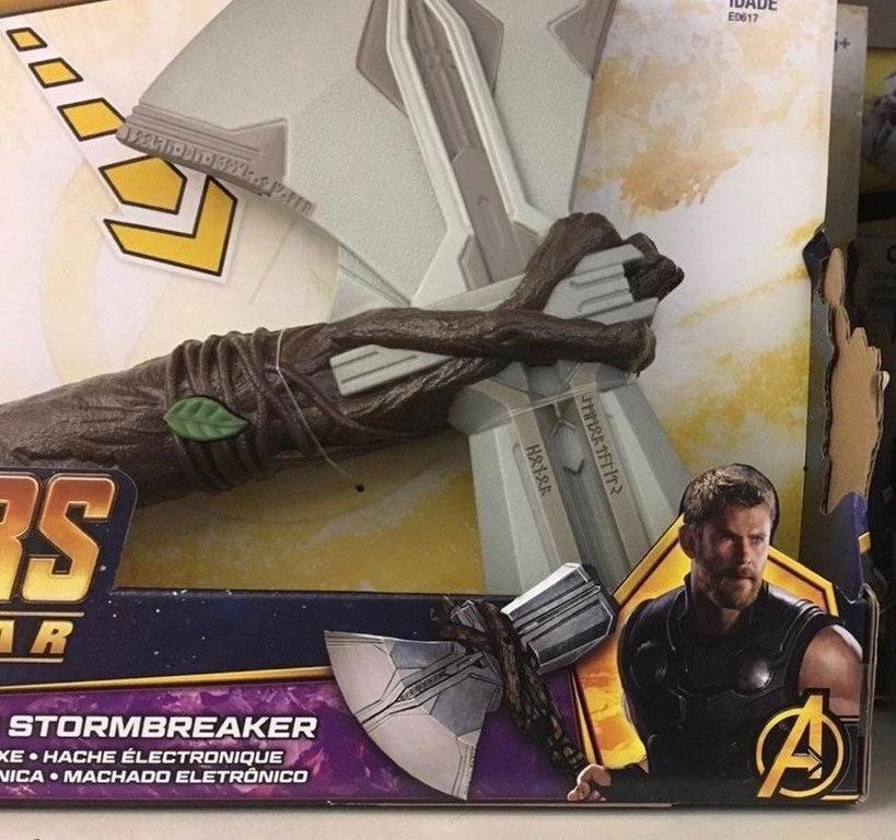 Revelado o visual da nova arma do Thor em Vingadores: Guerra Infinita!