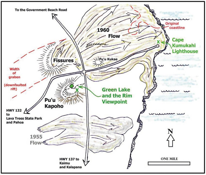 1. Map of the eruption area