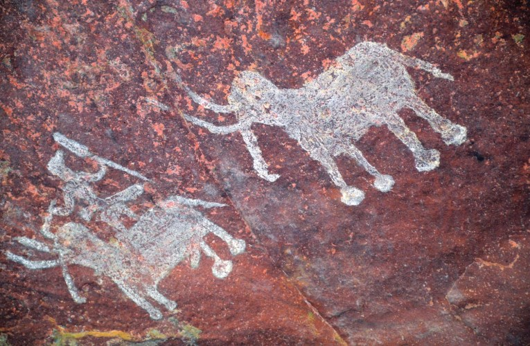 The Bhimbetka rock shelters and paintings of India