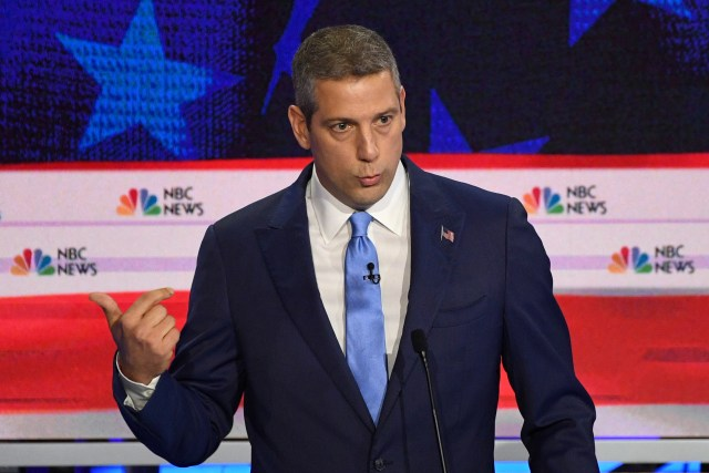 Democratic presidential hopeful U.S. Representative from Ohio Tim Ryan speaks during the first Democratic primary debate of the 2020 presidential campaign  at the Adrienne Arsht Center for the Performing Arts in Miami, June 26, 2019.