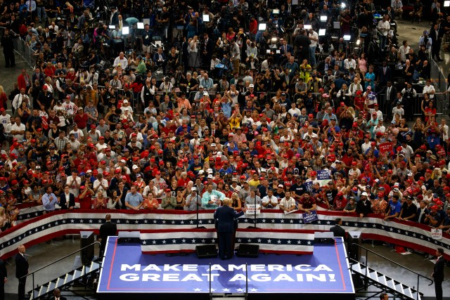 President Donald Trump speaks during his re-election kickoff rally at the Amway Center, Tuesday, June 18, 2019, in Orlando, Fla.