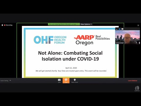 Not The Only One: Beating Social Isolation, Depression in CO…