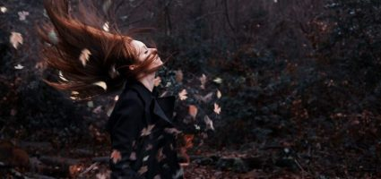 sadness-girl-redhead-wind-leaves-photo-forest-autumn-hd-wallpaper