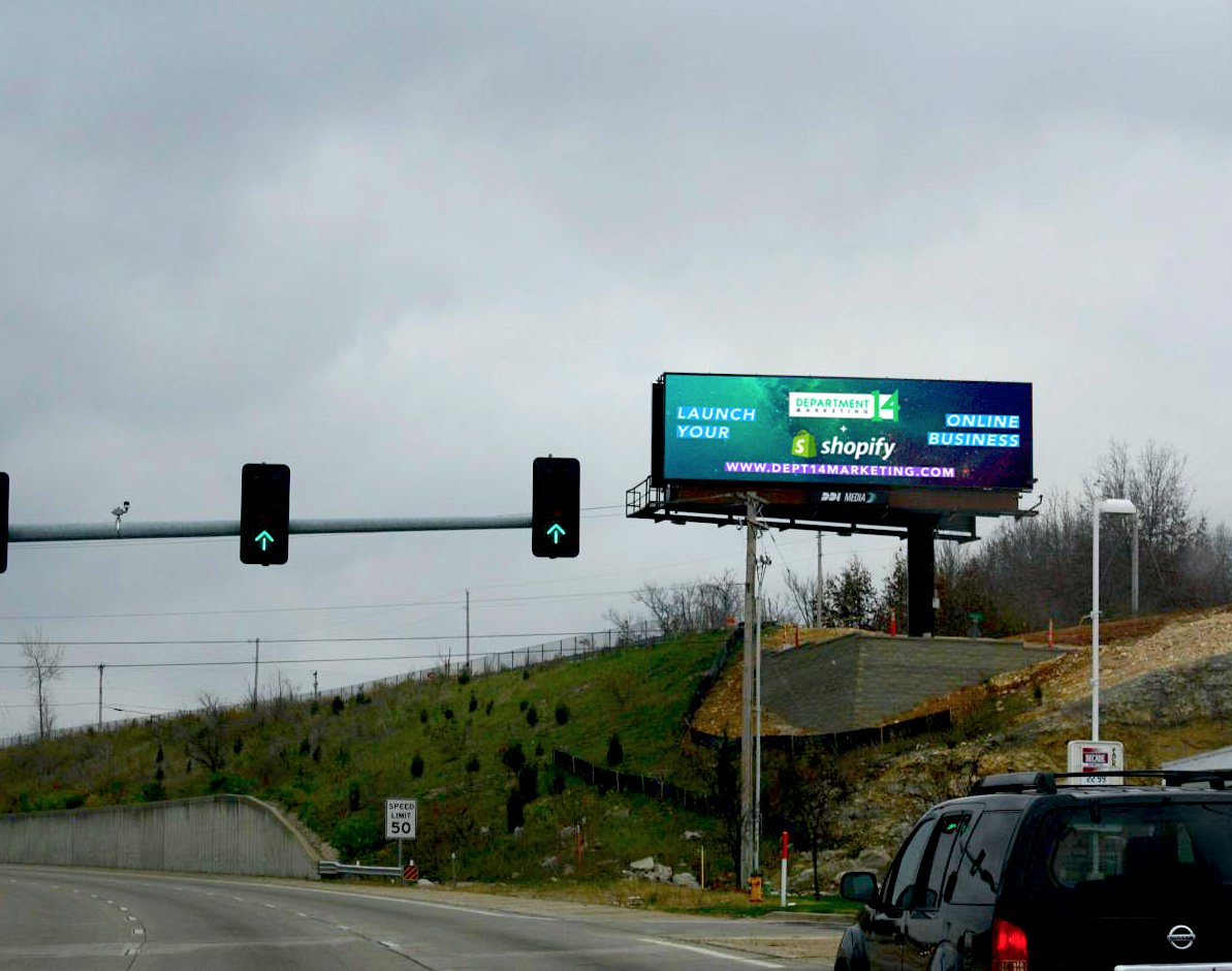 department 14's digital billboard network