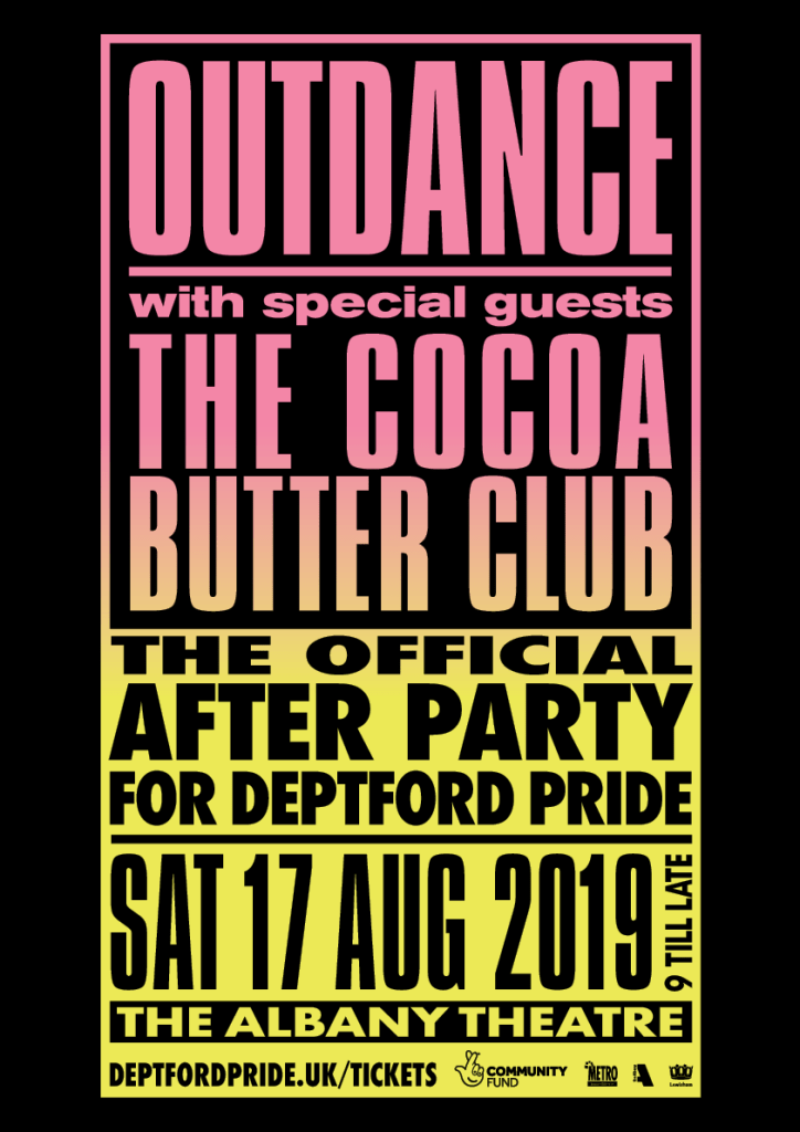OutDance Official Deptford Pride After Party poster
