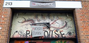 Sign outside Matchstick Piehouse