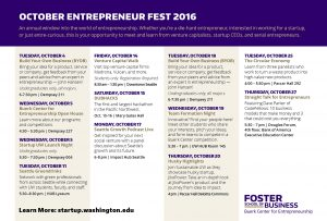 Complete list of Entrepreneur Fest events
