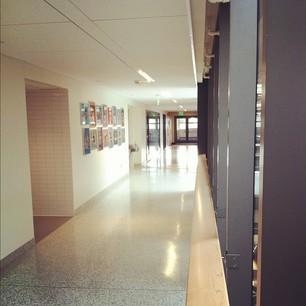 Hallway outside Q Center