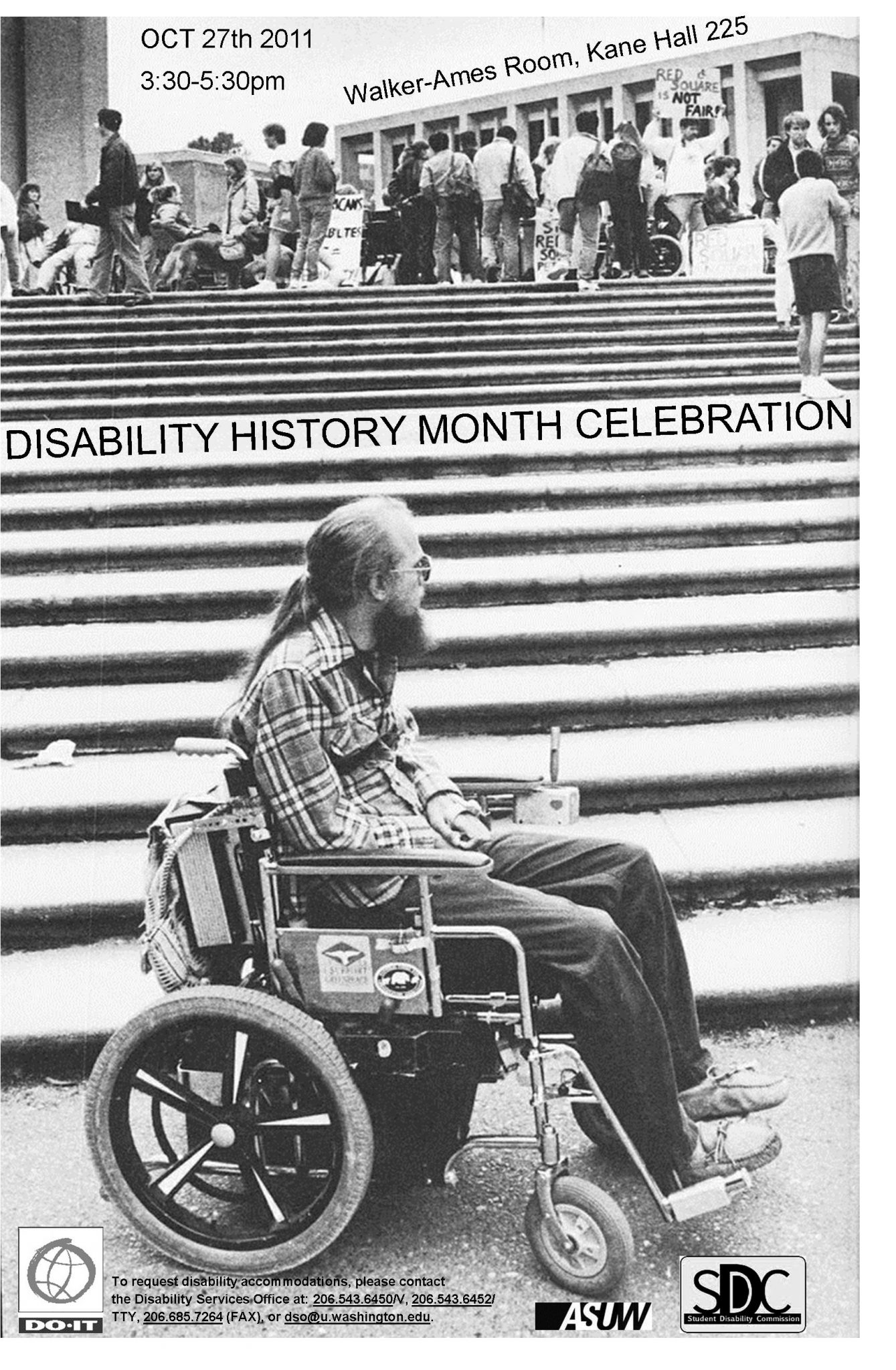 Disability History Month Celebration Oct. 27th 3pm walker-ames room, kane hall