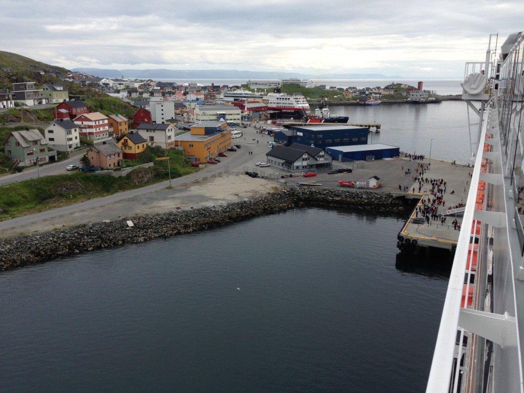 Honningsvåg desde la cubierta del MSC Splendida