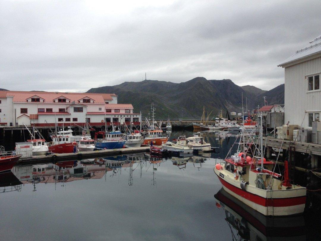 Barcos de pesca en Honningsvåg