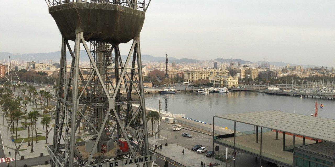 Embarcando en Barcelona