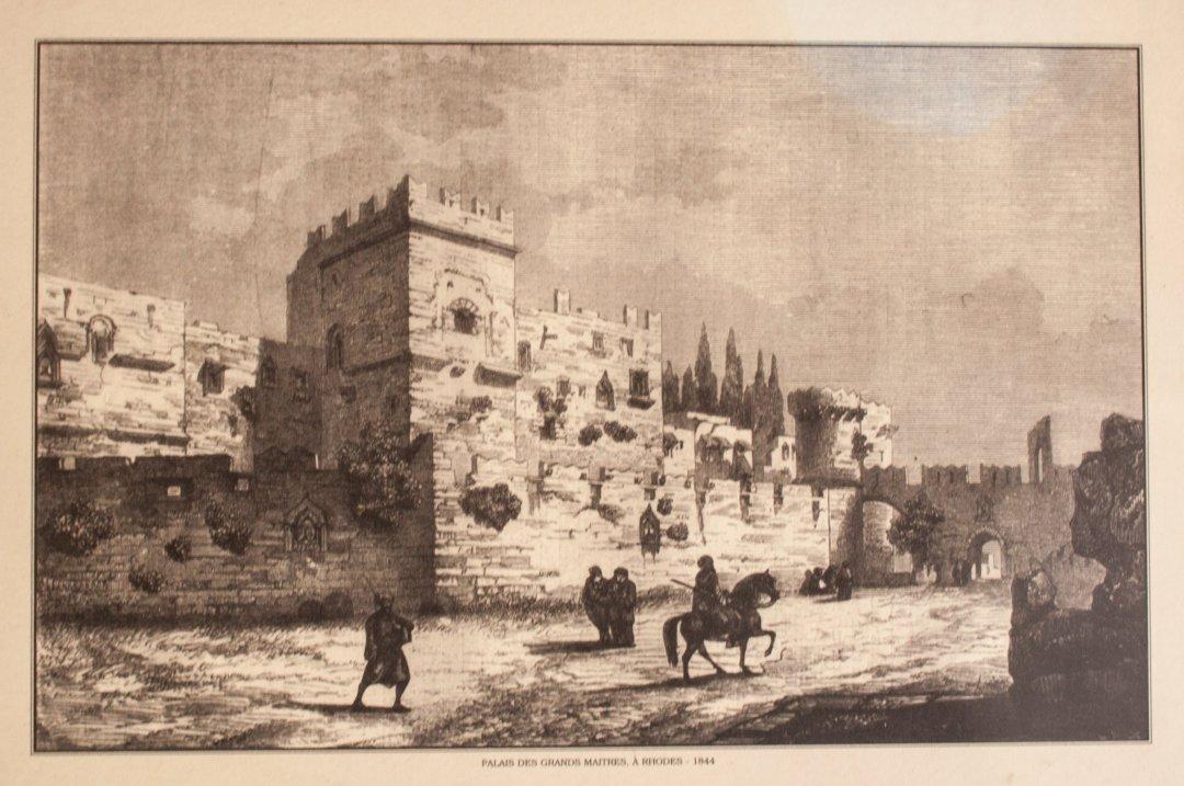 Palacio del Gran Maestre en 1844