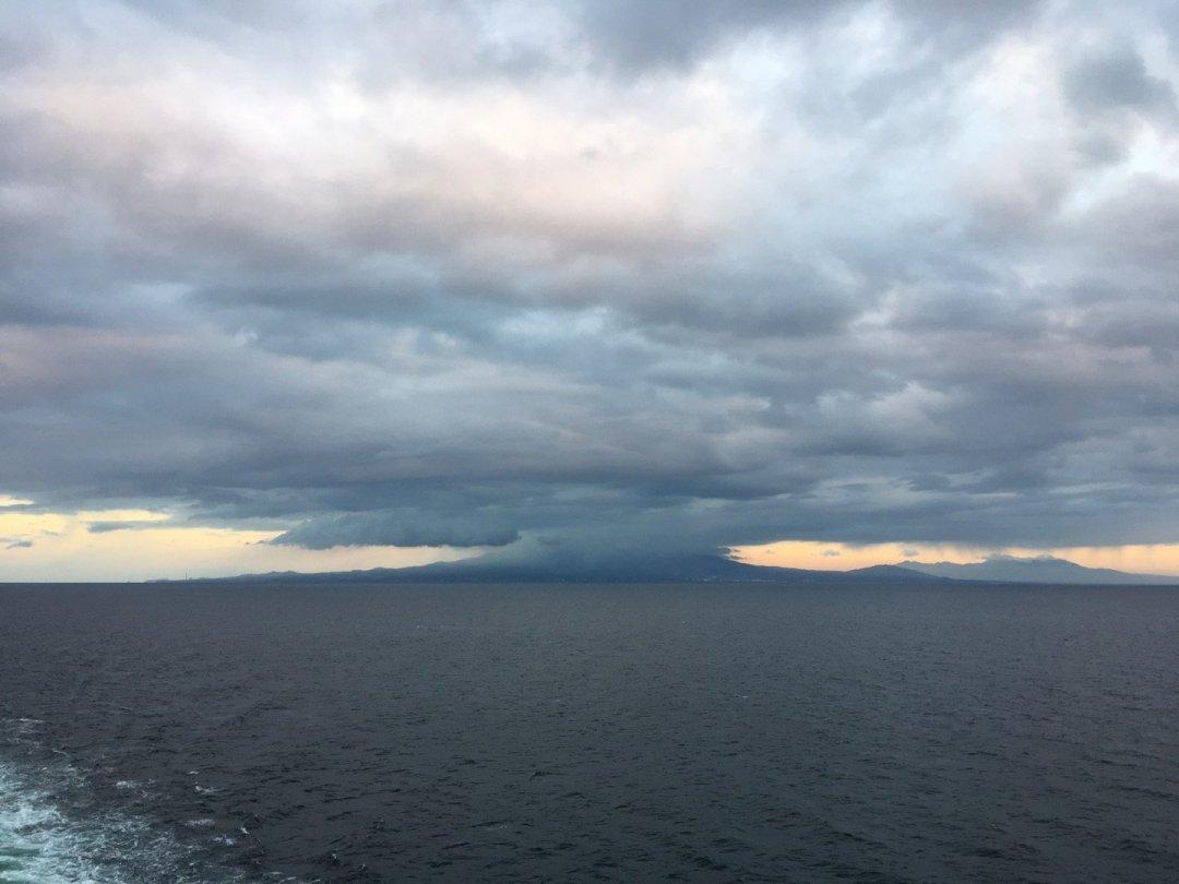 El volcán Mariveles al amanecer