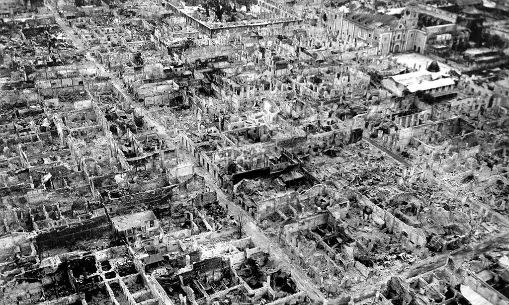 Intramuros en Mayo de 1945