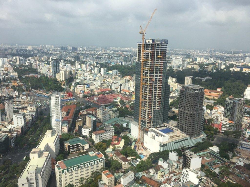 Vista hacia el oeste desde el Saigon Skydeck