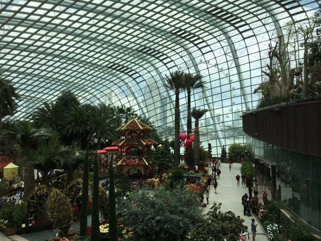 Interior del Flower Dome