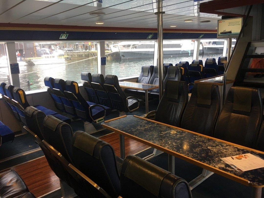 Interior del catamarán