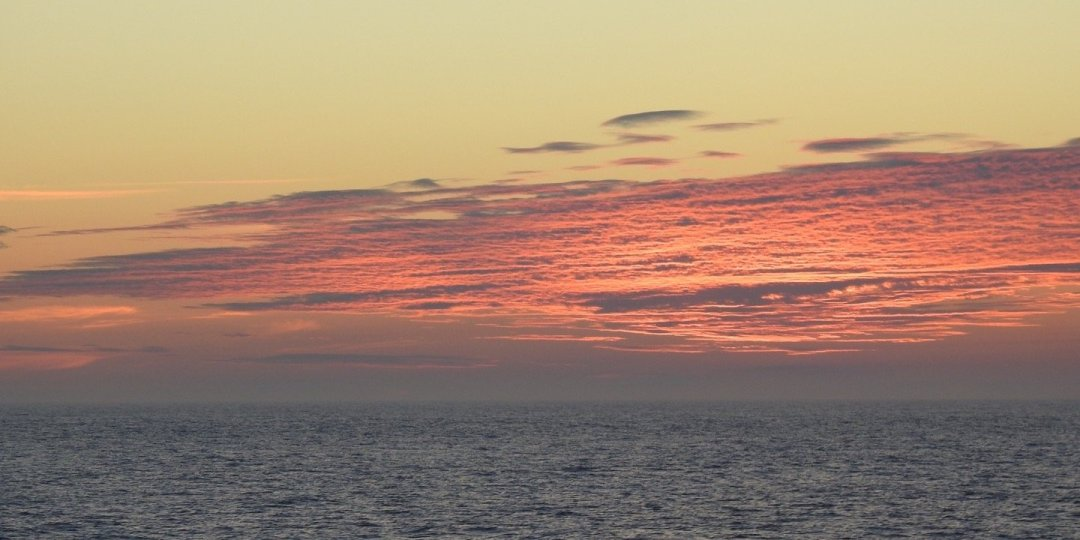Atardecer en el mar del Labrador