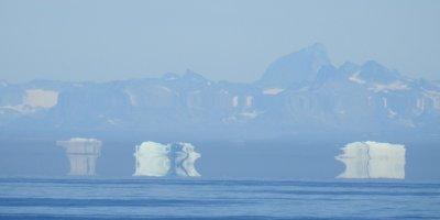 Icebergs distorsionados