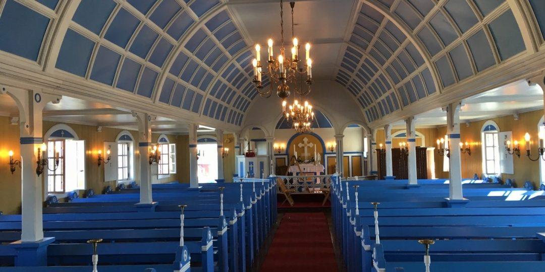 Interior de la iglesia de Narsaq
