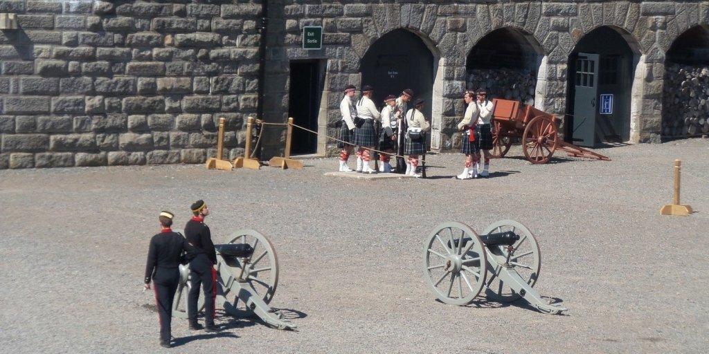 Recreación histórica en la ciudadela de Halifax