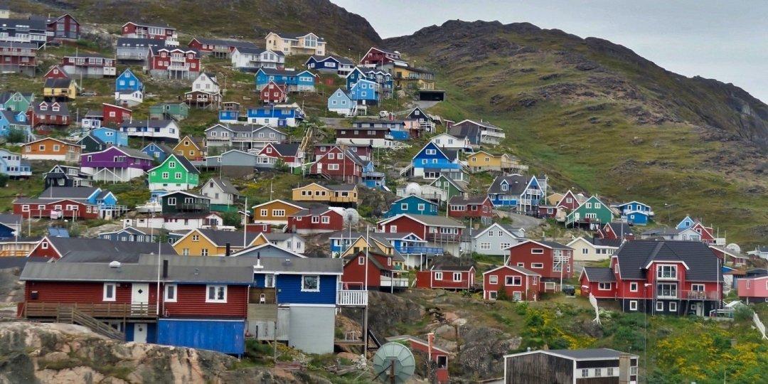 Vista desde el hotel Qaqortoq