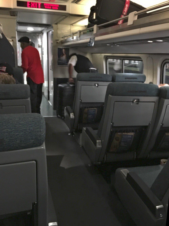 Interior del Amtrak