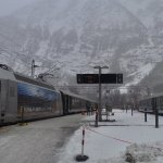 El ferrocarril de Flåm en invierno