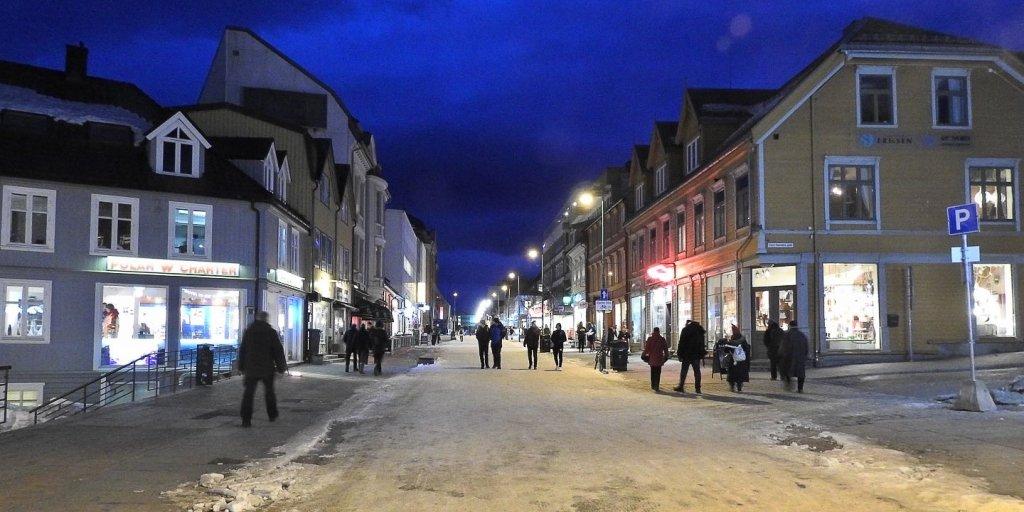 Tromsø: Storgata en invierno