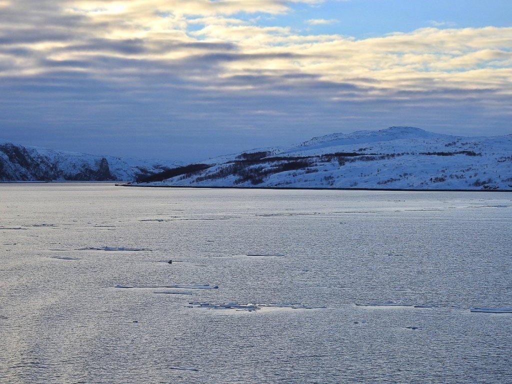 Bøkfjorden al atardecer