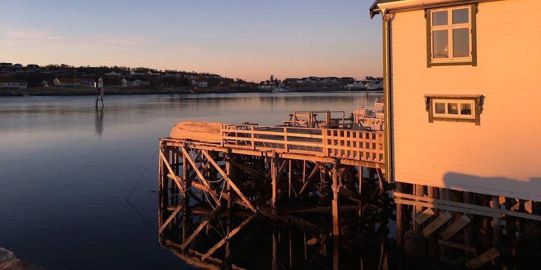 Atardecer en Brønnøysundet